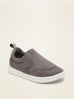 Lightweight Faux-Suede Unisex Slip-On Sneakers for Toddler & Baby