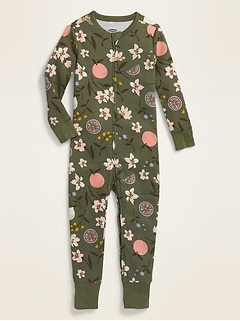 Floral Pajama One-Piece for Toddler & Baby