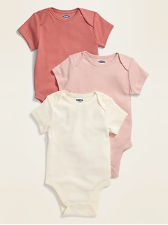 Unisex Bodysuit 3-Pack for Baby