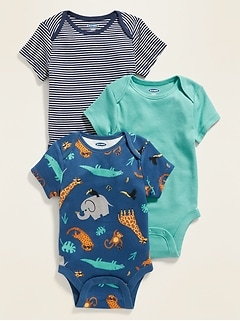 Short-Sleeve Bodysuit 3-Pack for Baby