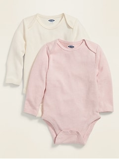 Plush-Knit Bodysuit 2-Pack for Baby