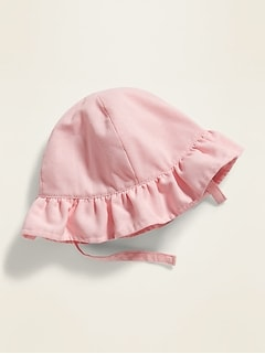 Linen-Blend Bucket Hat for Baby