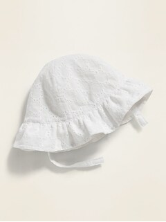 Eyelet Bucket Hat for Baby