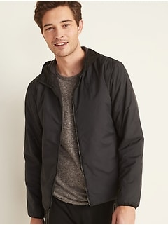 Go-H20 Water-Repellent Hooded Zip Jacket for Men
