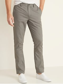 Slim Uniform Non-Stretch Chino Pants for Men