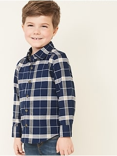 Plaid Long-Sleeve Oxford Shirt for Toddler Boys