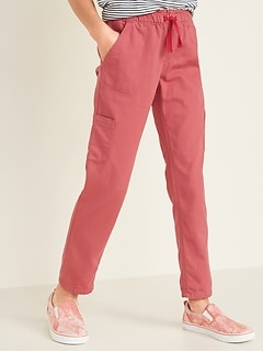 Pull-On Cargo Chino Pants for Girls