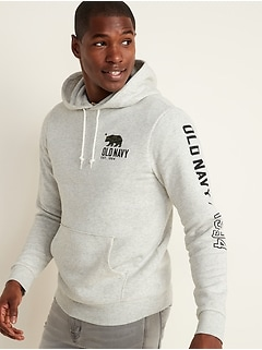 Logo-Graphic Pullover Hoodie for Men