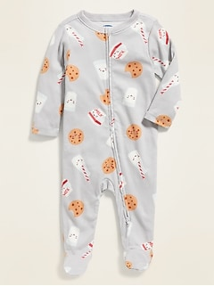 Printed Footed One-Piece for Baby