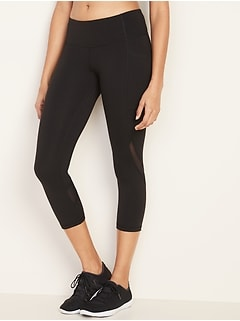 Mid-Rise Elevate Side-Pocket Crop Leggings for Women