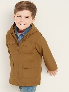 Hooded Utility Jacket for Toddler Boys