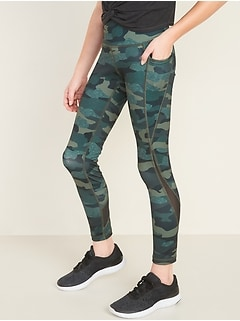 Mid-Rise Go-Dry Side-Pocket Elevate Leggings for Girls