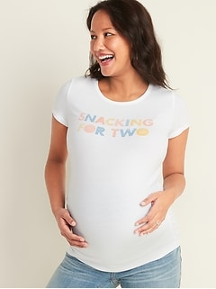 Maternity Graphic Crew-Neck Tee