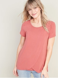 Maternity Cross-Front Jersey Nursing Top