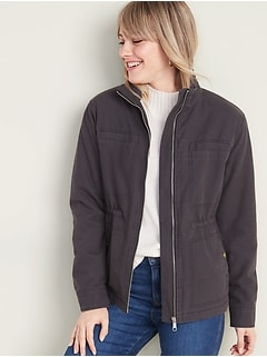 Sherpa-Lined Utility Jacket for Women