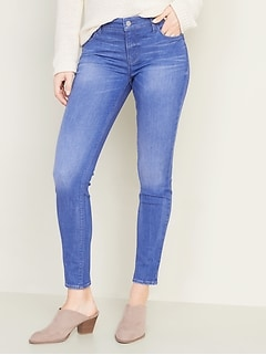 Mid-Rise Built-In Sculpt Rockstar Super Skinny Jeans for Women