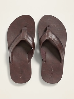 Faux-Leather Flip-Flops for Boys