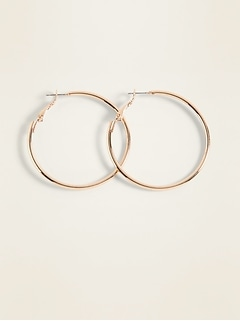 Gold-Toned Hoop Earrings for Women