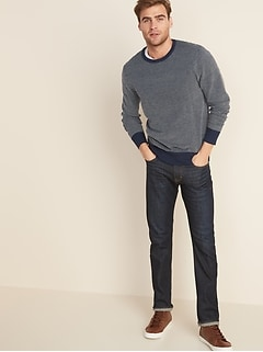 Everyday Textured Crew-Neck Sweater for Men