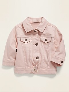 Light-Pink Jean Jacket for Baby
