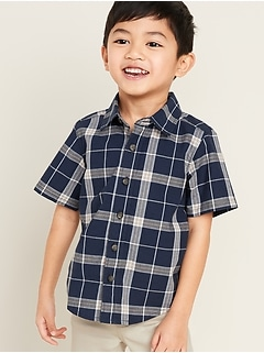 Plaid Oxford Shirt for Toddler Boys