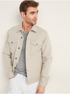 Twill Built-In Flex Trucker Jacket for Men