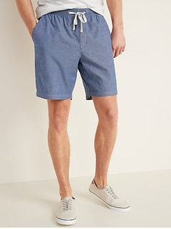 Twill Jogger Shorts for Men -- 9-inch inseam