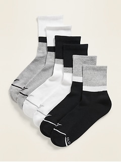 Athletic Quarter-Crew Socks 3-Pack for Women
