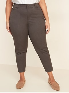 High-Waisted Secret-Slim Pockets Plus-Size Never-Fade Pixie Pants