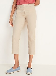 Mid-Rise Pixie Chino Capris for Women