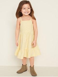 Fit & Flare Eyelet-Yoke Cami Dress for Toddler Girls