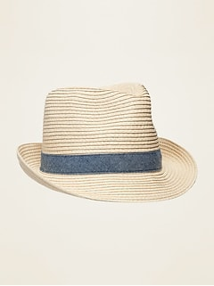 Straw Fedora for Boys