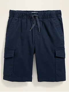 Straight Built-In Flex Functional-Drawstring Jogger Cargo Shorts