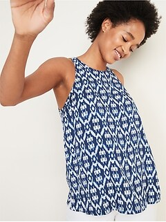 Deals on Old Navy Printed High-Neck Tank Top for Women