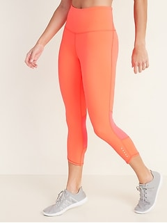 High-Waisted Elevate Compression Run Crops For Women