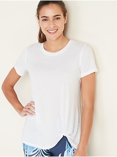 Lightweight Twist-Hem Performance Tee for Women