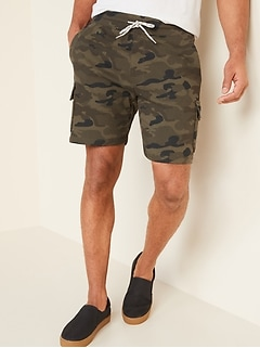 Camo Cargo Jogger Shorts for Men -- 7.5-inch inseam