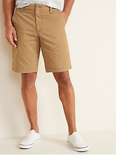 Lived-In Straight Khaki Shorts for Men - 10-inch inseam
