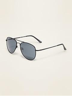 Wire-Frame Aviator Sunglasses for Women