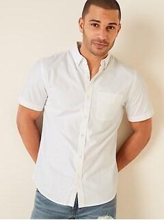 Clean-Slate Built-In Flex Oxford Short-Sleeve Shirt for Men