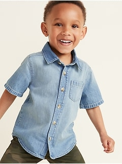 Jean Pocket Shirt for Toddler Boys