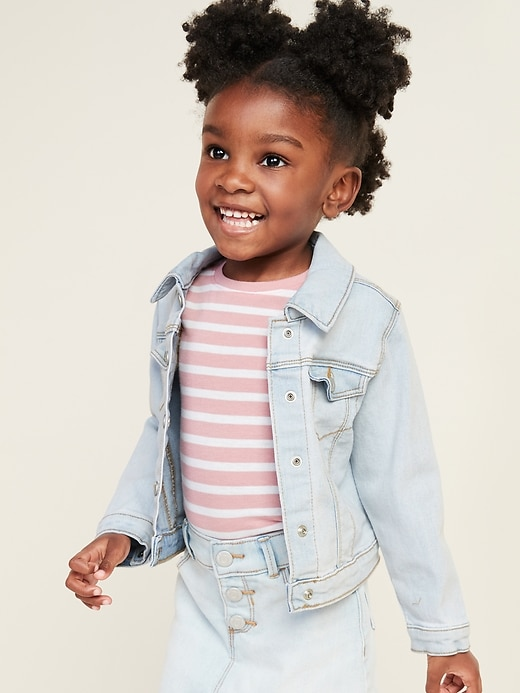 Unisex Stretch Jean Jacket for Toddler
