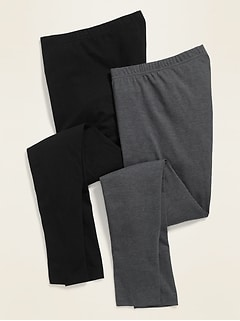 Mid-Rise Jersey Leggings 2-Pack for Women