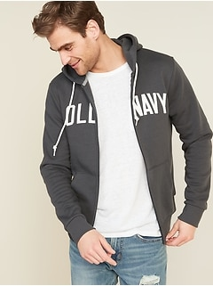 Logo-Graphic Zip Hoodie for Men