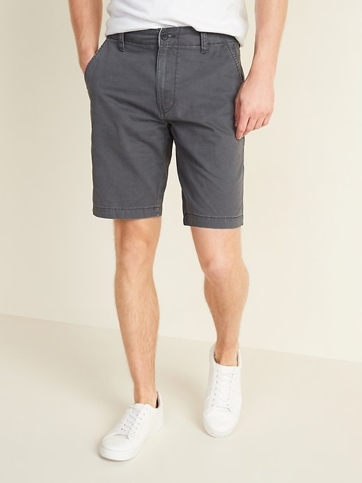 "Old Navy Men's 10"" Lived-In Straight Khaki Shorts (multiple colors)"