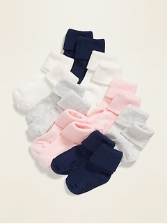 Unisex Triple-Roll Socks 8-Pack For Toddler & Baby