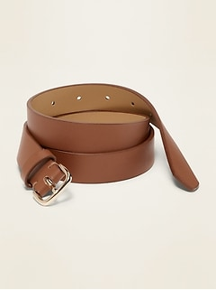 Faux-Leather Belt for Women (1