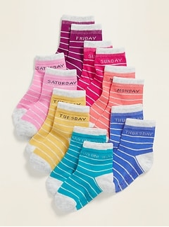 Day-Of-The-Week Socks 7-Pack For Toddler Girls & Baby