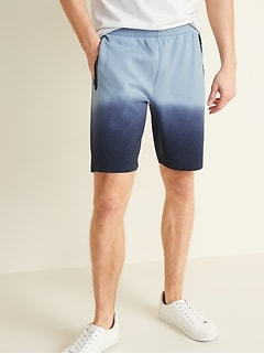 Dynamic Fleece Dip-Dye Jogger Shorts for Men -- 9-inch inseam