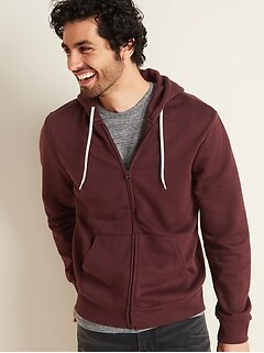 Zip-Front Hoodie for Men